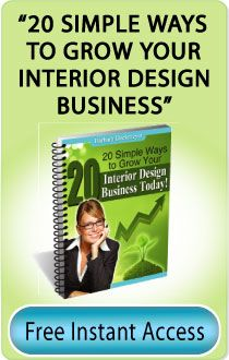 20 Simple Ways to Grow Your Interior Design Business. Go check it out! It's a FREE download! #interiordesign #marketing interior design business marketing