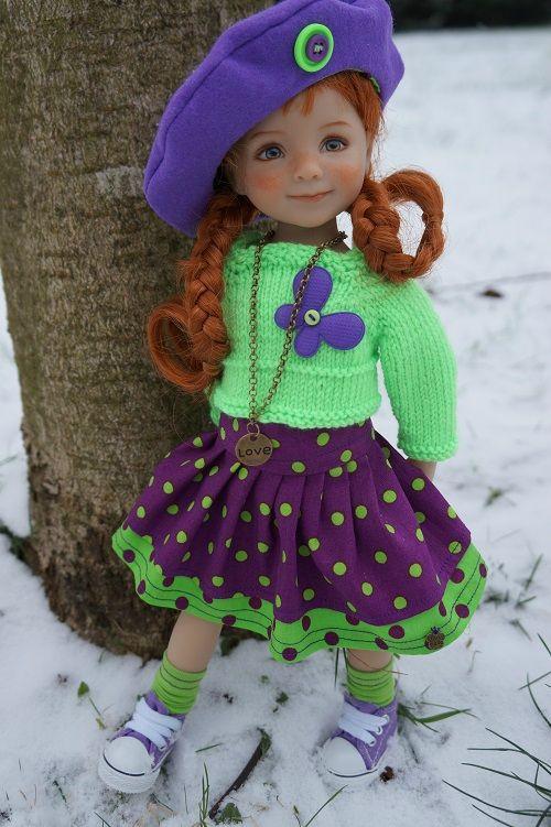 Elysée sous la neige ... mais en violet et anis !!! ♡
