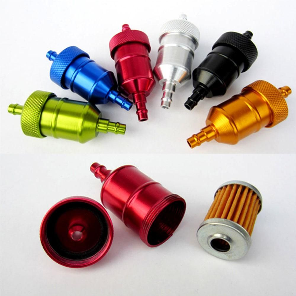 1pc Universal Gasoline Filter Motorcycle Fuel Filters Oil Petrol Atv For Sports Car Suv