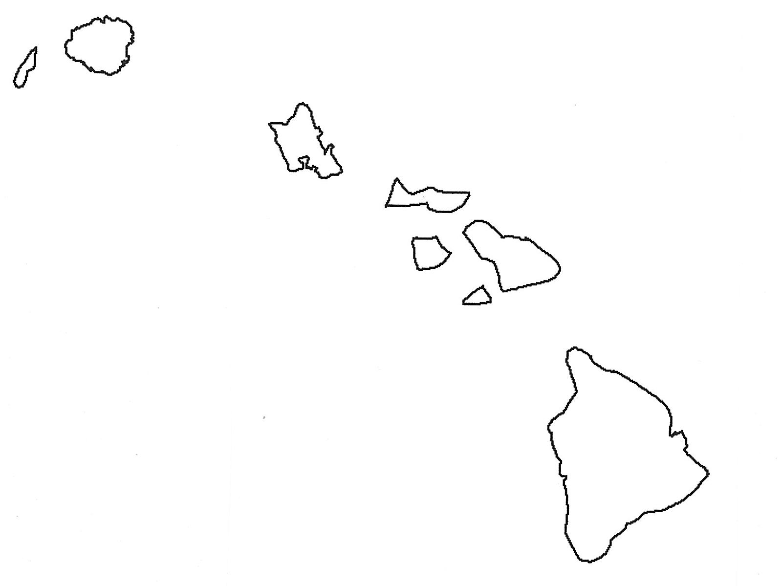 Outline Map Of Hawaiian Islands With Hawaii Map