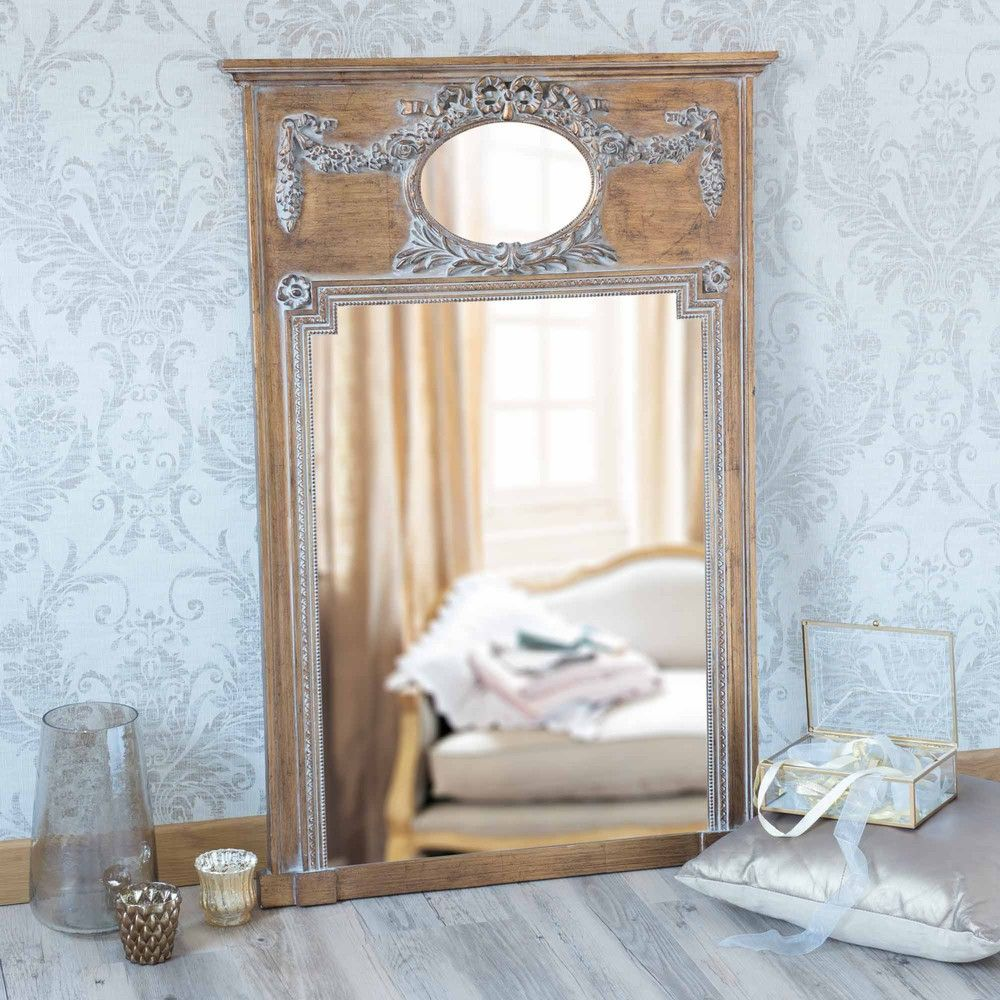 miroir trumeau en bois dor h 105 cm mirano d co en 2019. Black Bedroom Furniture Sets. Home Design Ideas