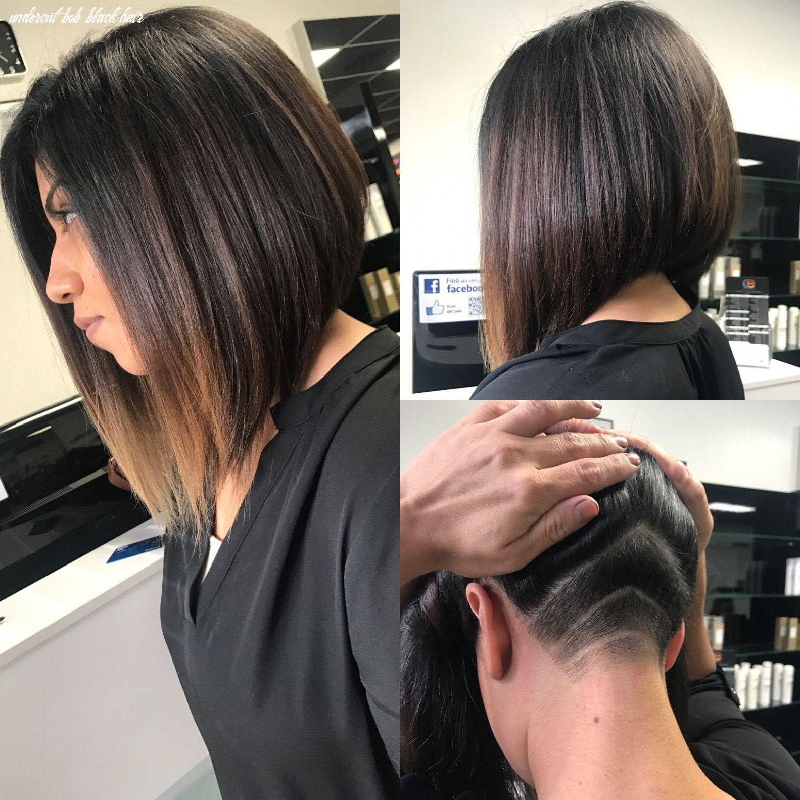 9 Undercut Bob Black Hair Undercut Hairstyles Undercut Long Hair Thick Hair Styles