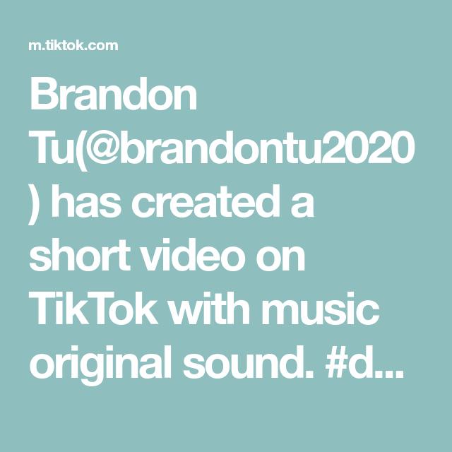Brandon Tu Brandontu2020 Has Created A Short Video On Tiktok With Music Original Sound Duet With Bultum200 In 2021 The Originals Human Body Unit Science Education