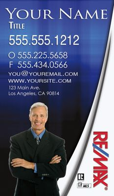 Remax Business Cards Real Estate Business Cards Vertical Business