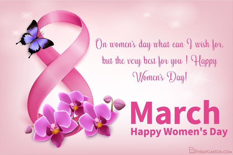 March 8th Happy Women S Day Greeting Cards Images Happy Woman Day International Women S Day Wishes Greeting Card Image
