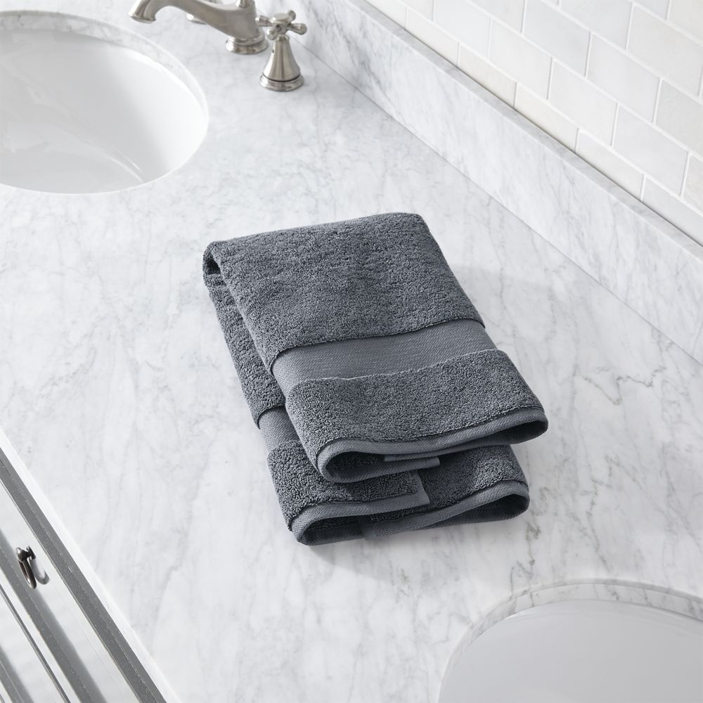 Turkish Cotton 800 Gram Slate Grey Hand Towel Grey Hand Towels