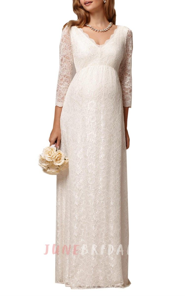 Long sleeve maternity wedding dresses  Pin by Nikki Quesinberry on Wedding  Pinterest  Chic wedding