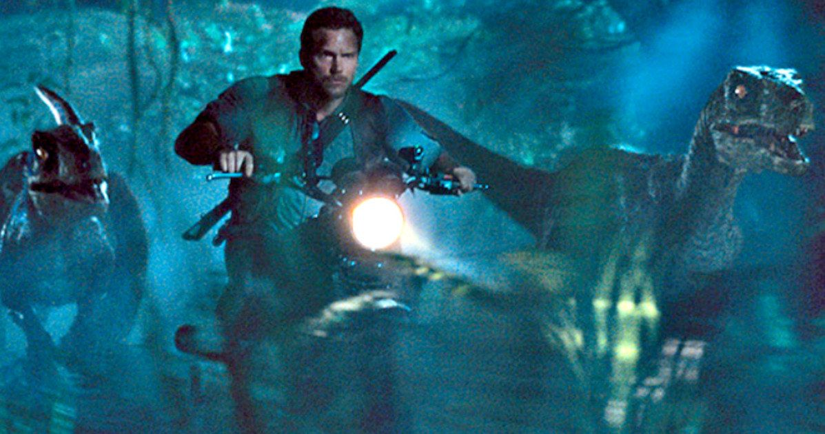 Image result for jurassic world bike chase