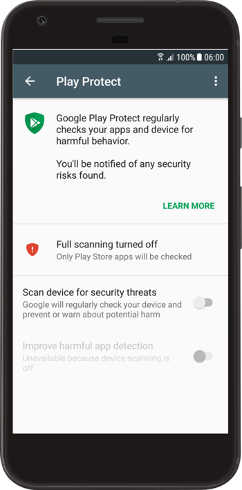 Scan Device For Security Threats Messaging app, Android