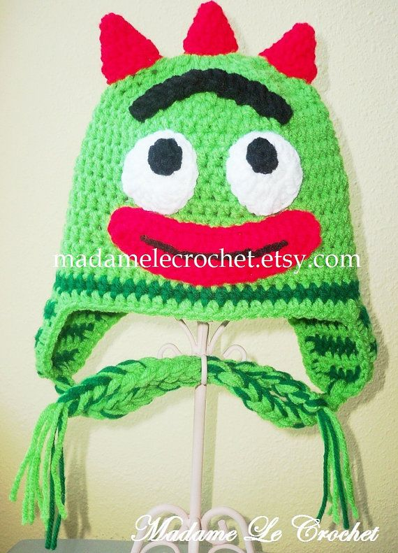 Newborn to Toddler Green Monster Crochet Hat by madamelecrochet.etsy ... 5c8b0a4bab3