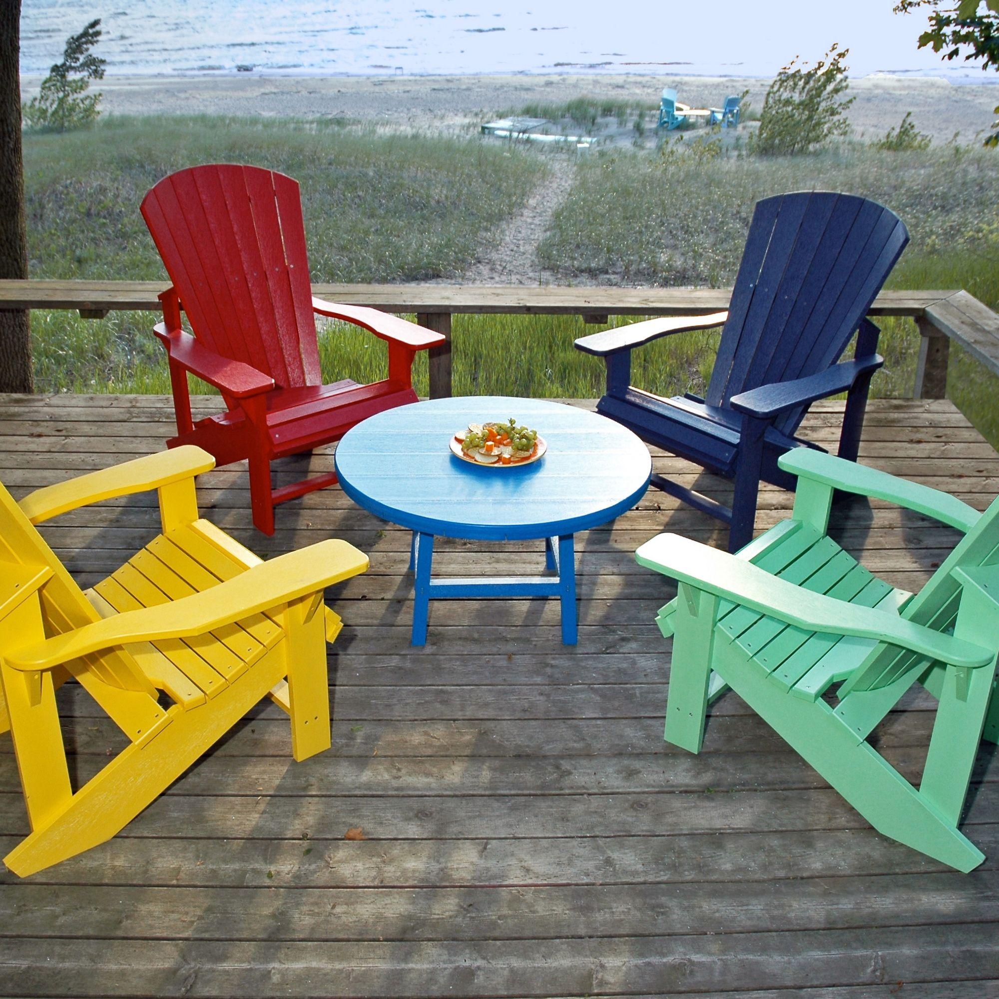 Salon style Adirondack en cinq couleurs | Fauteuil ...