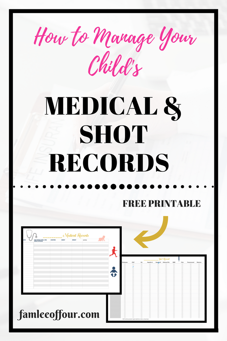 HOW TO MANAGE YOUR KIDS MEDICAL RECORDS +FREE PRINTABLE ...