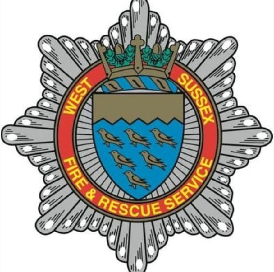 Fire and Rescue Service West Sussex vinyl sticker personalised..