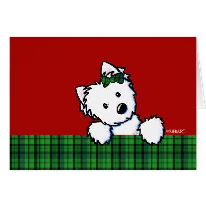 KiniArt Westie Christmas Card - diy cyo personalize design idea new special custom