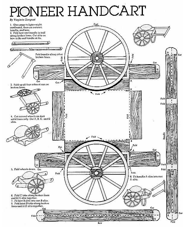 make your own paper hand cart. Made one for Pioneer day - it was ...