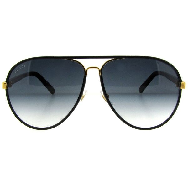 49c21f19e4036 Gucci GG 2887 S UZA Black Leather Aviator sunglasses
