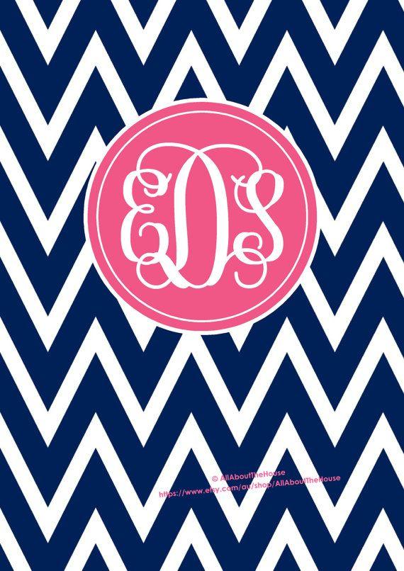 monogram binder cover