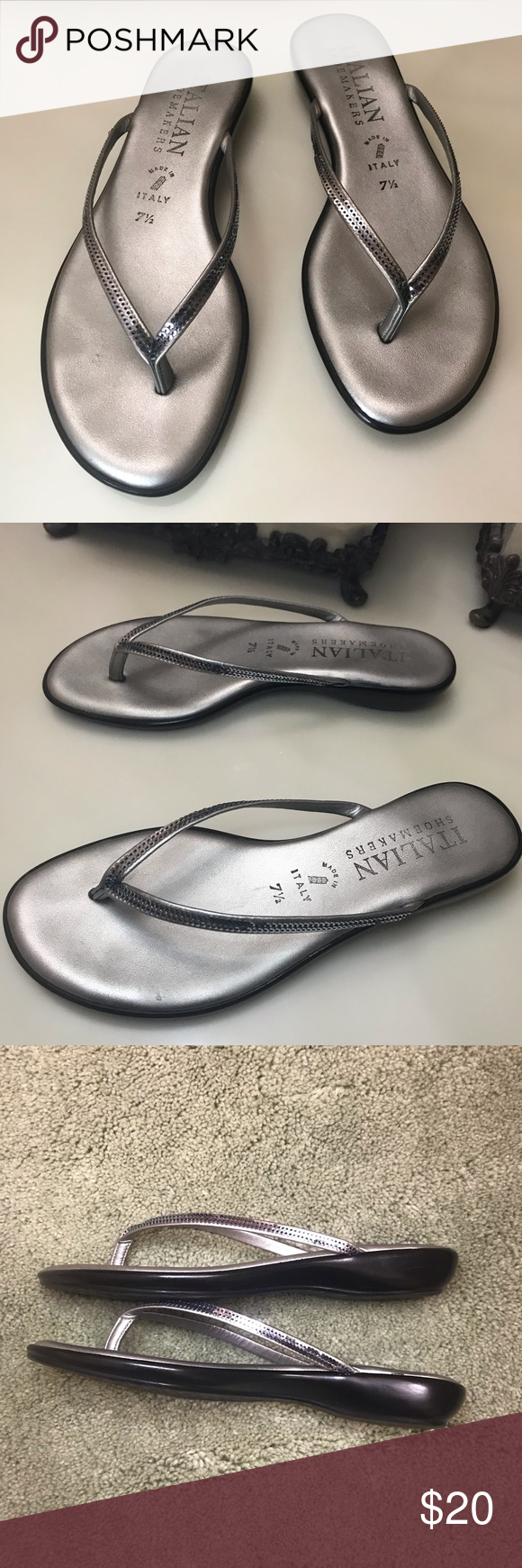 057e8d1b4b7 Italian Shoemaker Sequin Sandals Good Condition - Worn multiple times  •Scuffs on heel. No tears on top. •Size  It says 7 1 2