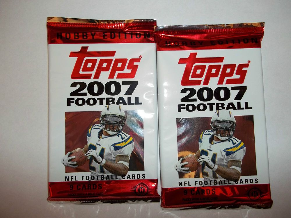 2007 topps football cards 2 pack lot peterson rc nfl