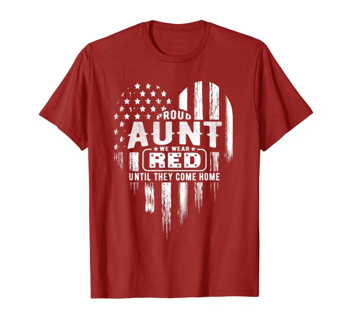 Proud Aunt Red Friday Military Family TShirt