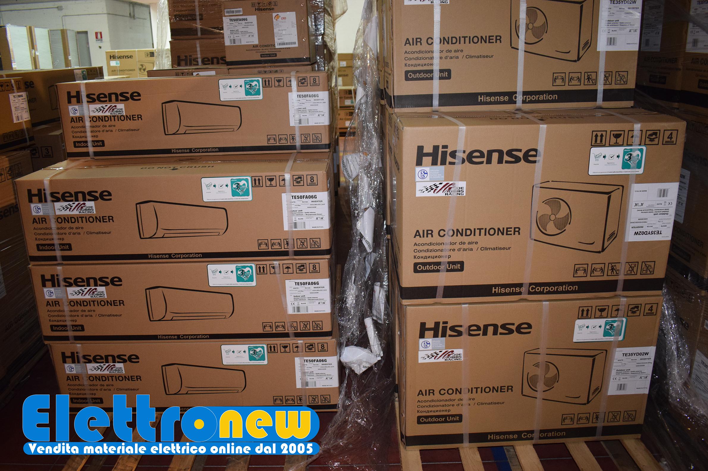 Nuovi arrivi al nostro magazzino Climatizzatori Hisense Daikin Samsung Aermec