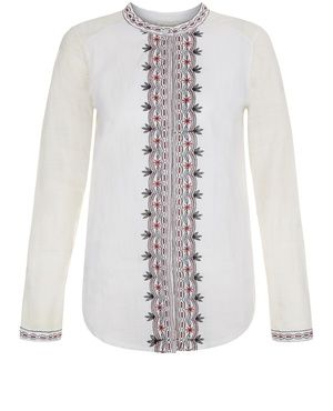 White embroidered shirt The Editor Cheap Sale Explore qjMrlQjo3