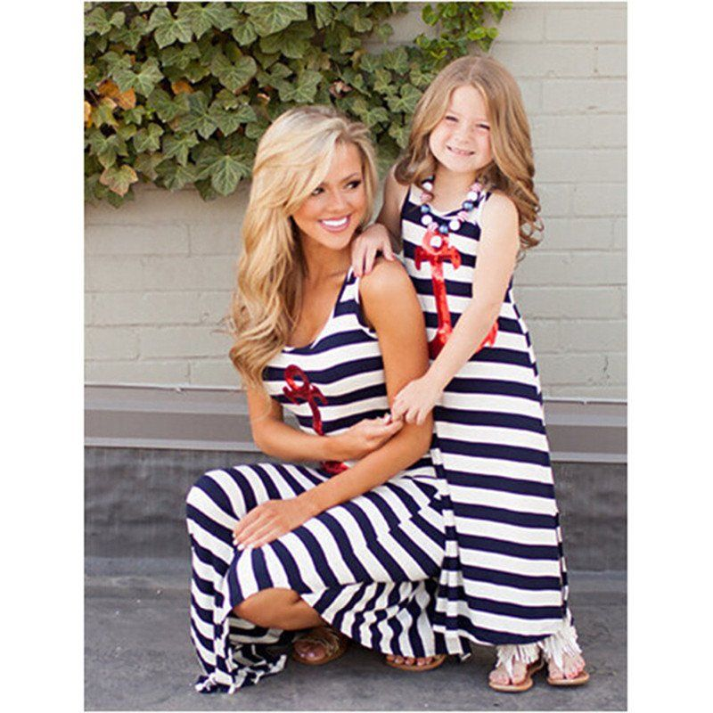 71f4b9224ce Anchored Mommy   Me Maxi Dress Matching Clothes