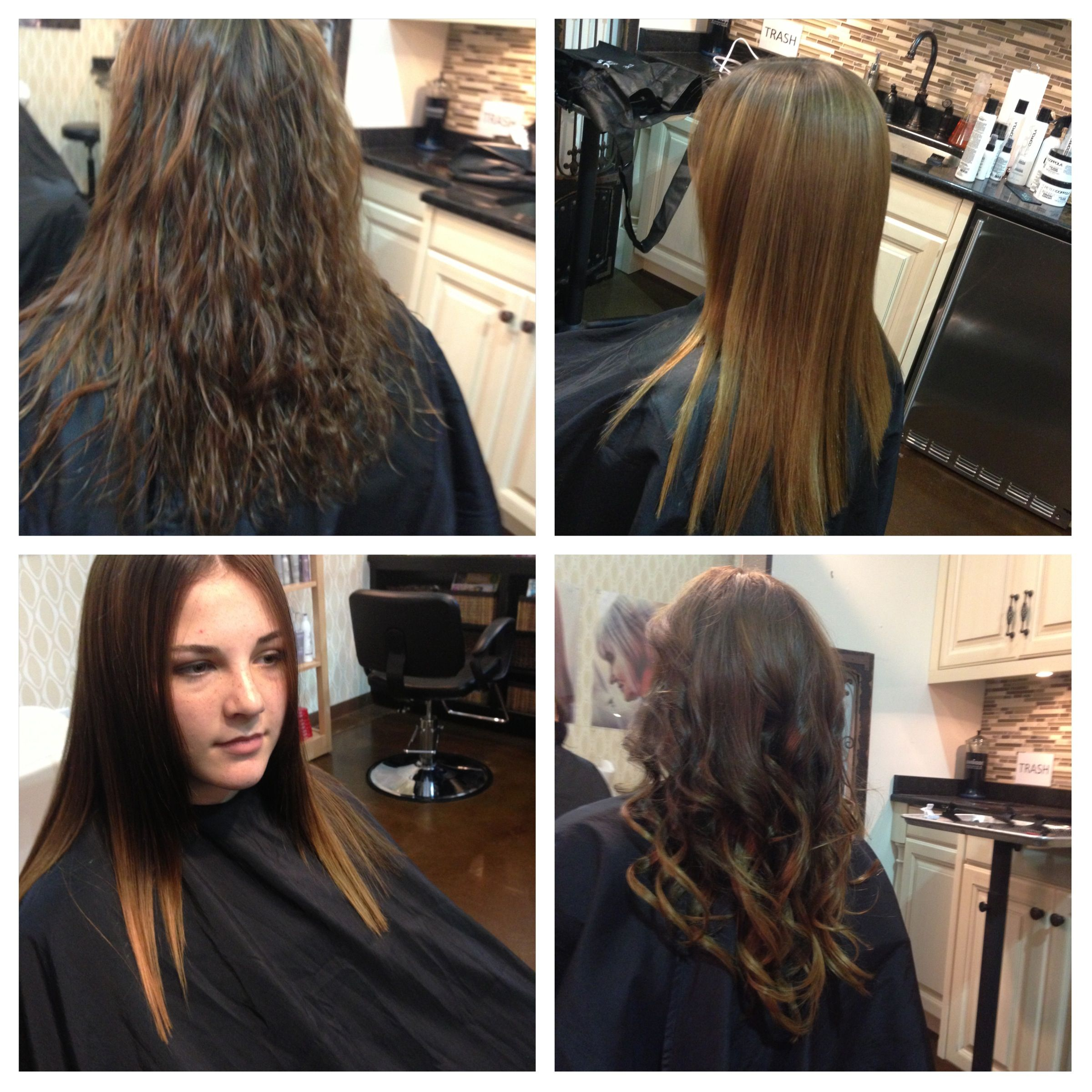 Before/after Peter Coppola Keratin Concept Hair