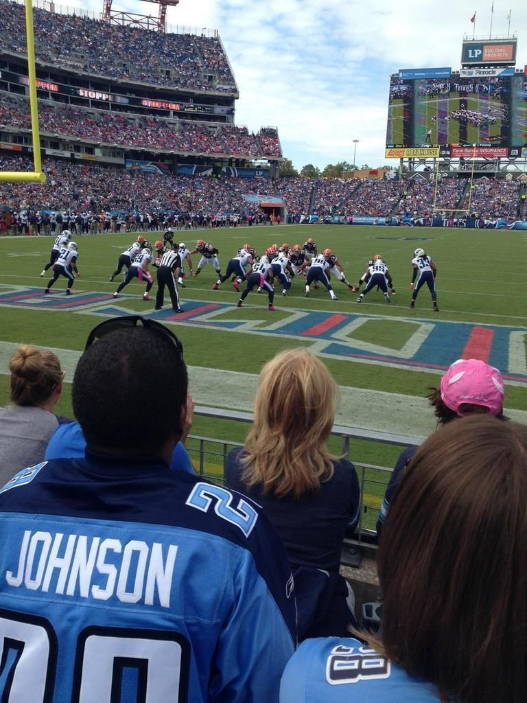 Tennessee Titans Football Game At Lp Field In Nashville Tennessee Titans Football Nissan Stadium Tennessee Titans