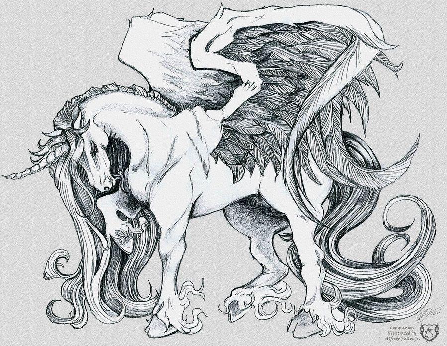 Winged Unicorn By Gorillagraffixiantart On Deviantart