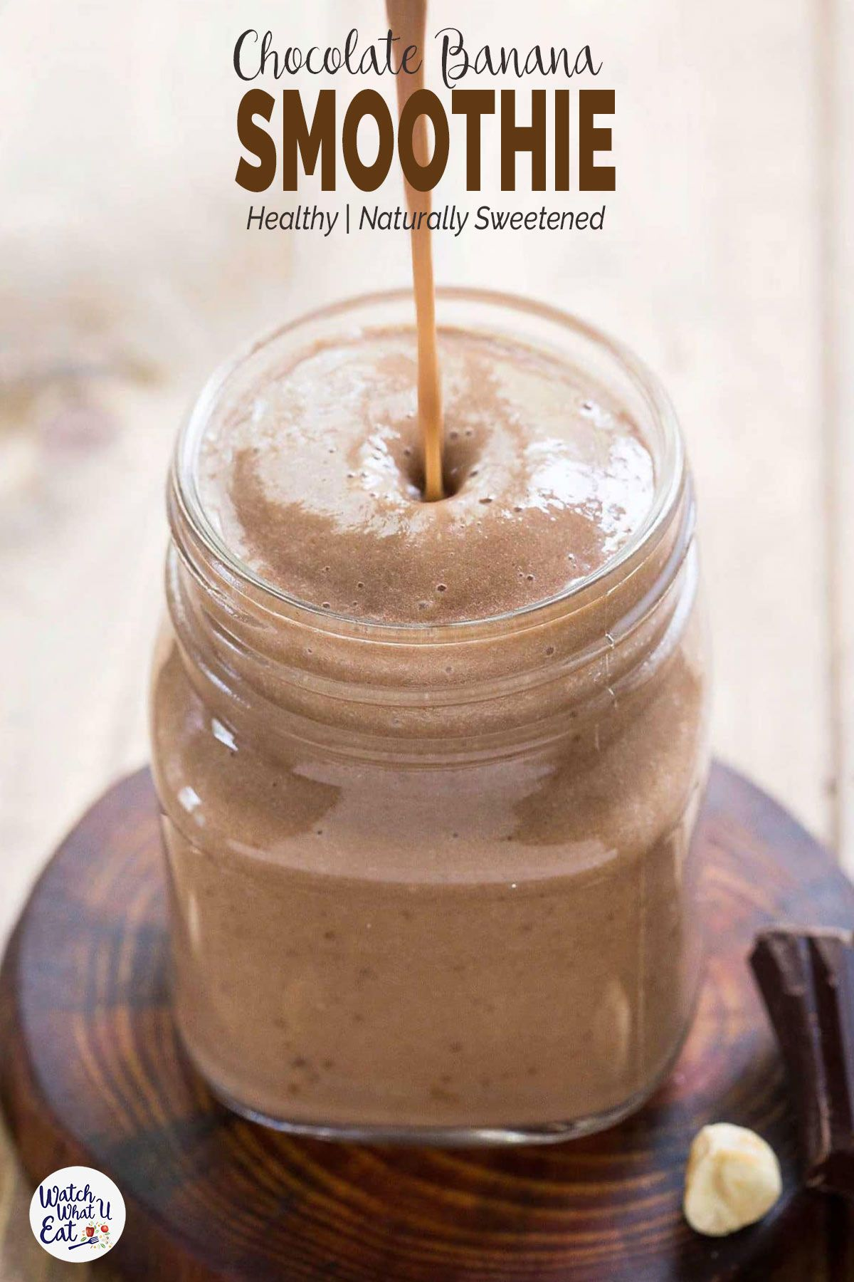 Healthy Chocolate Banana Smoothie #chocolatebananasmoothie