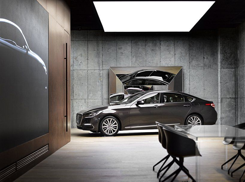 Suh Architects Hyundai Genesis Studio In Hanam South Korea Store Design Interior Garage Design Garage Interior