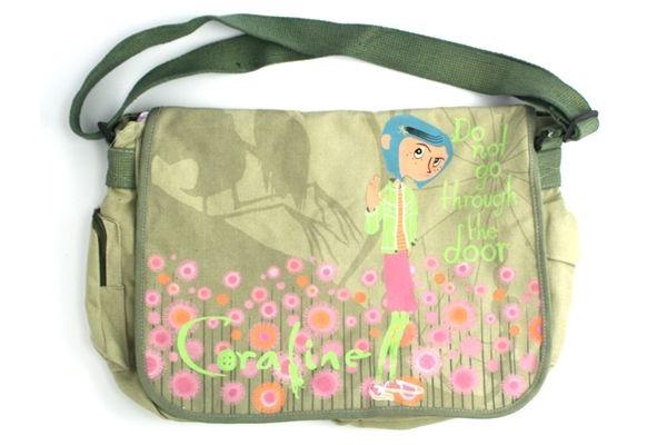 Coraline Messenger Bag Green Pastel Flowers Bags Green Bag Messenger Bag