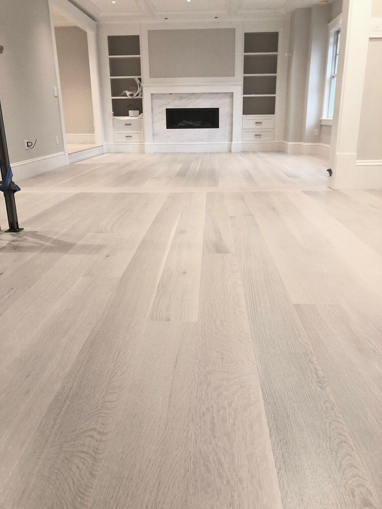 Waterbased White Stain Bona Natural Seal And Bona Traffic X Matte In 2020 Oak Wood Stain White Oak Hardwood Floors Staining Wood Floors