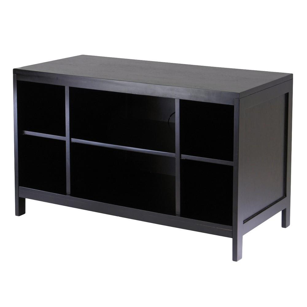 Hailey Tv Stand Modular Open Shelf Large Dark Espresso