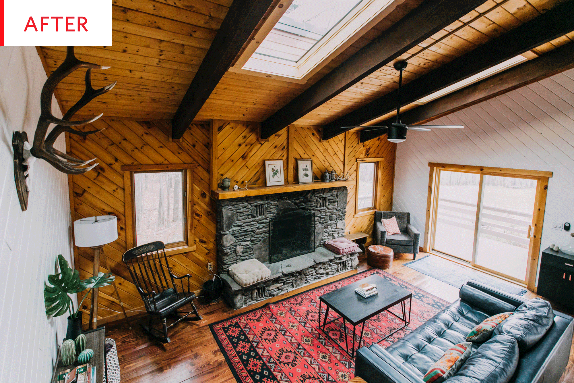 Before And After The Secret To Taking Wood Paneled Walls
