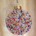Seed Bead Ball Ornament with instructions
