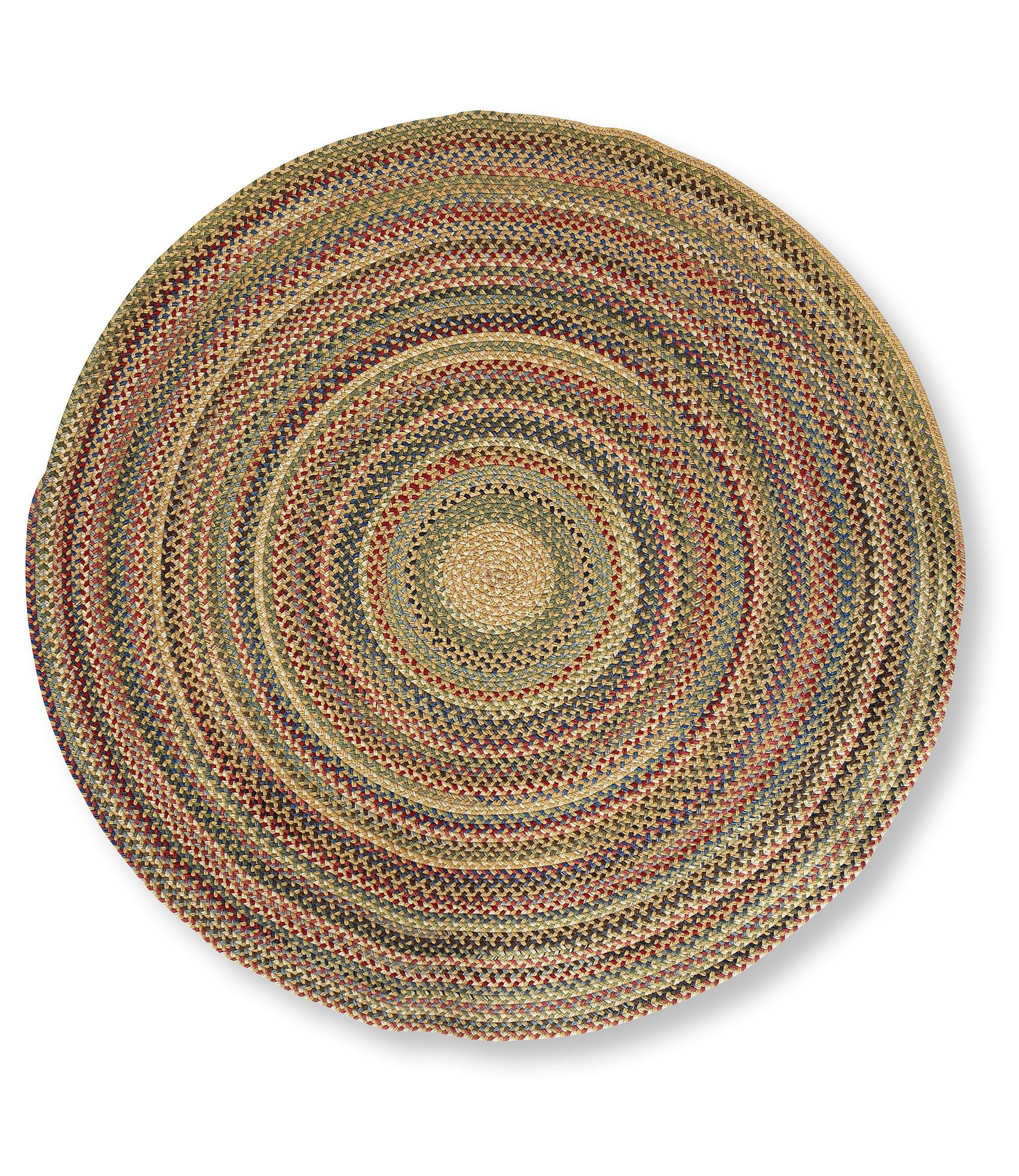 Braided Rug Pad: Bean's Braided Wool Rug, Round: Rugs And Rug Pads At L.L