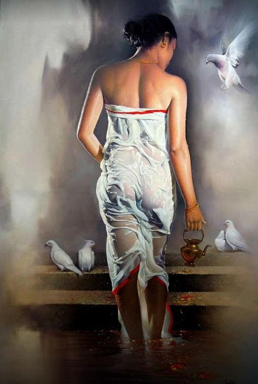 Painting of Bikash Bhattacharjee | Art 3 (soft colors ...