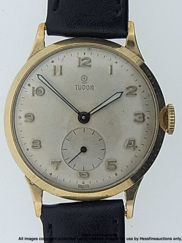 new styles c93e9 75651 Scarce 9k Gold Rolex Tudor 15 Jewels Large Mens Vintage Dress Wrist Watch