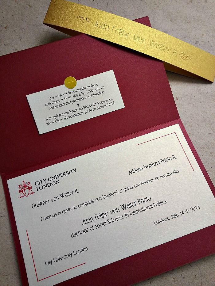 Invitaciones Para Grado Casa Papelera El Cedro Eventos
