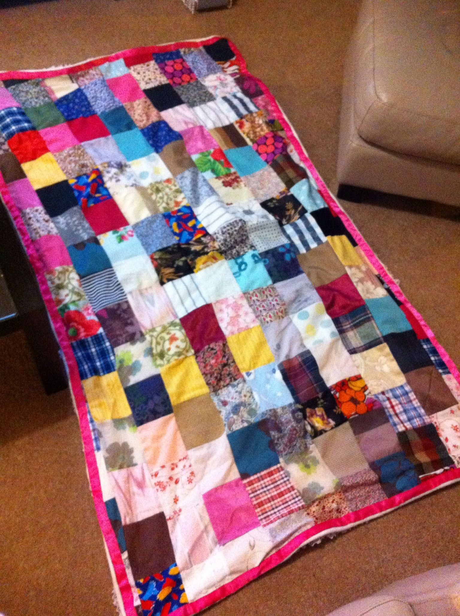 Homemade patchwork quilt | Mummy corner | Pinterest