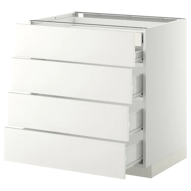 Metod High Cab For Oven Micro W Drawer White Bodbyn Grey Ikea