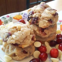 White Chocolate and Cranberry Cookies. I was looking for a white chocolate and cherry cookie. These look yummy!