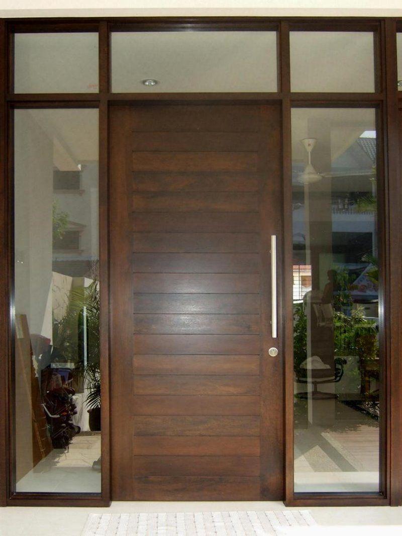 Dayar wooden front door hpd458 solid wood doors al habib panel - Minimalist Door Models That Are Popular This Year 7 Home Ideas
