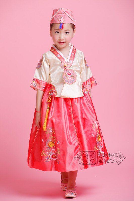 Hanbok Korea Anak Baju Tradisional Korea 1 8 Tahun