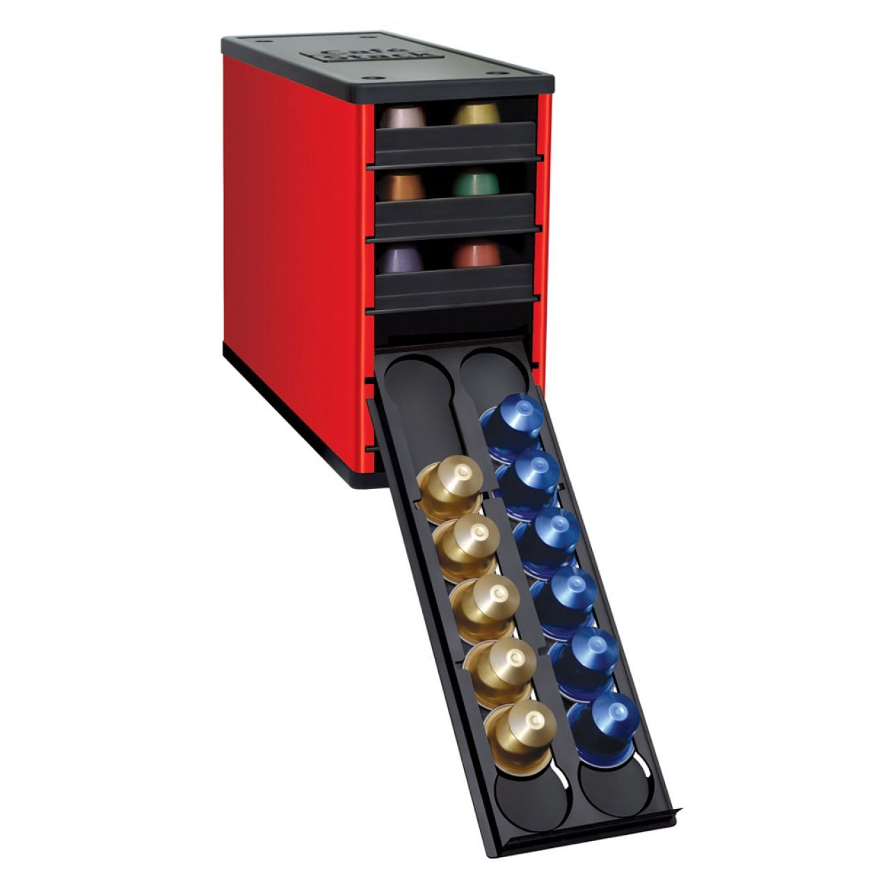 Another Option Fits In Kitchen Cabinet And Holds 60 Nespresso Pods Youcopia Caféstack Capsule Holders Sur La Table