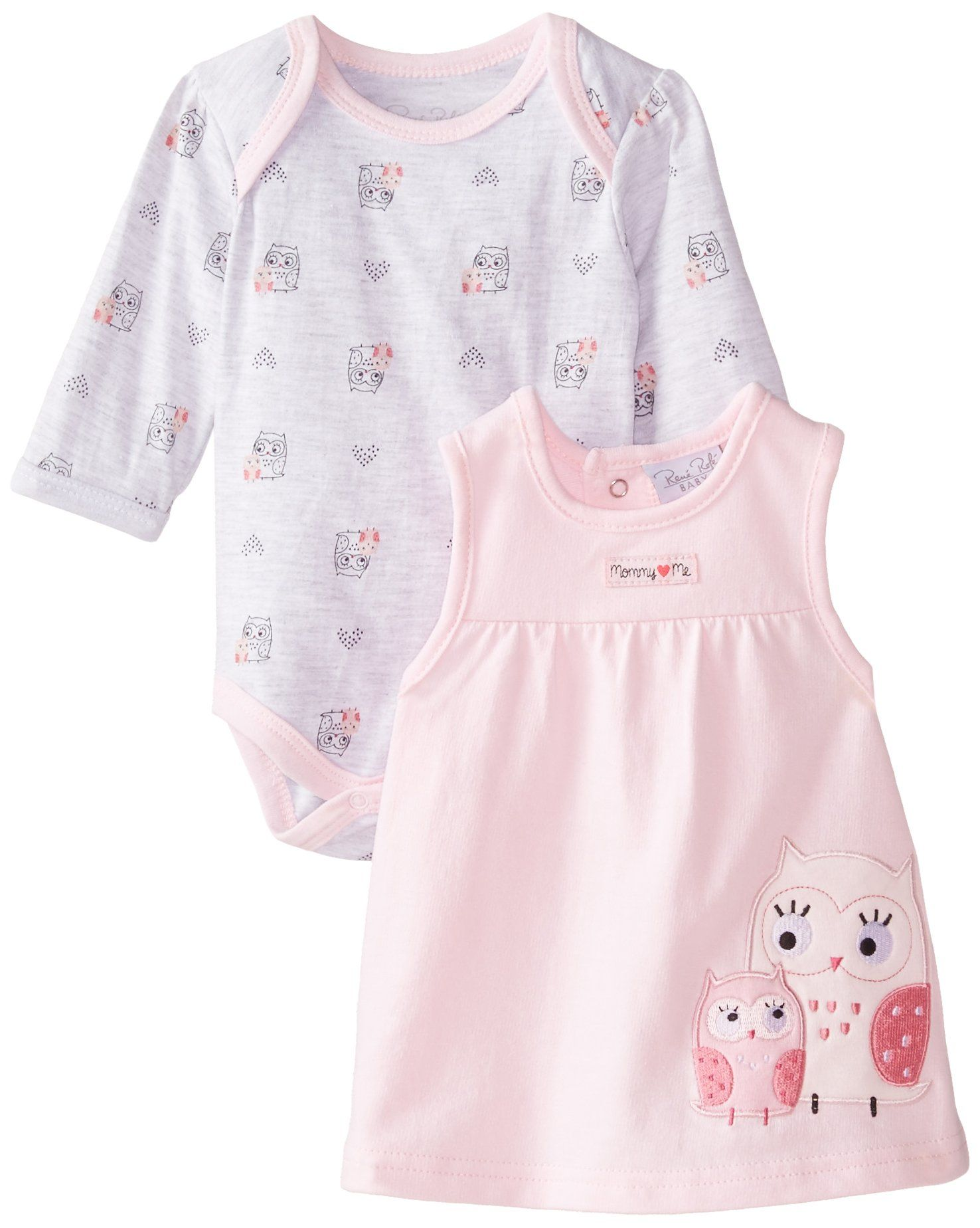 Amazon Rene Rofe Baby Baby Girls Newborn Owl Jumper Set with