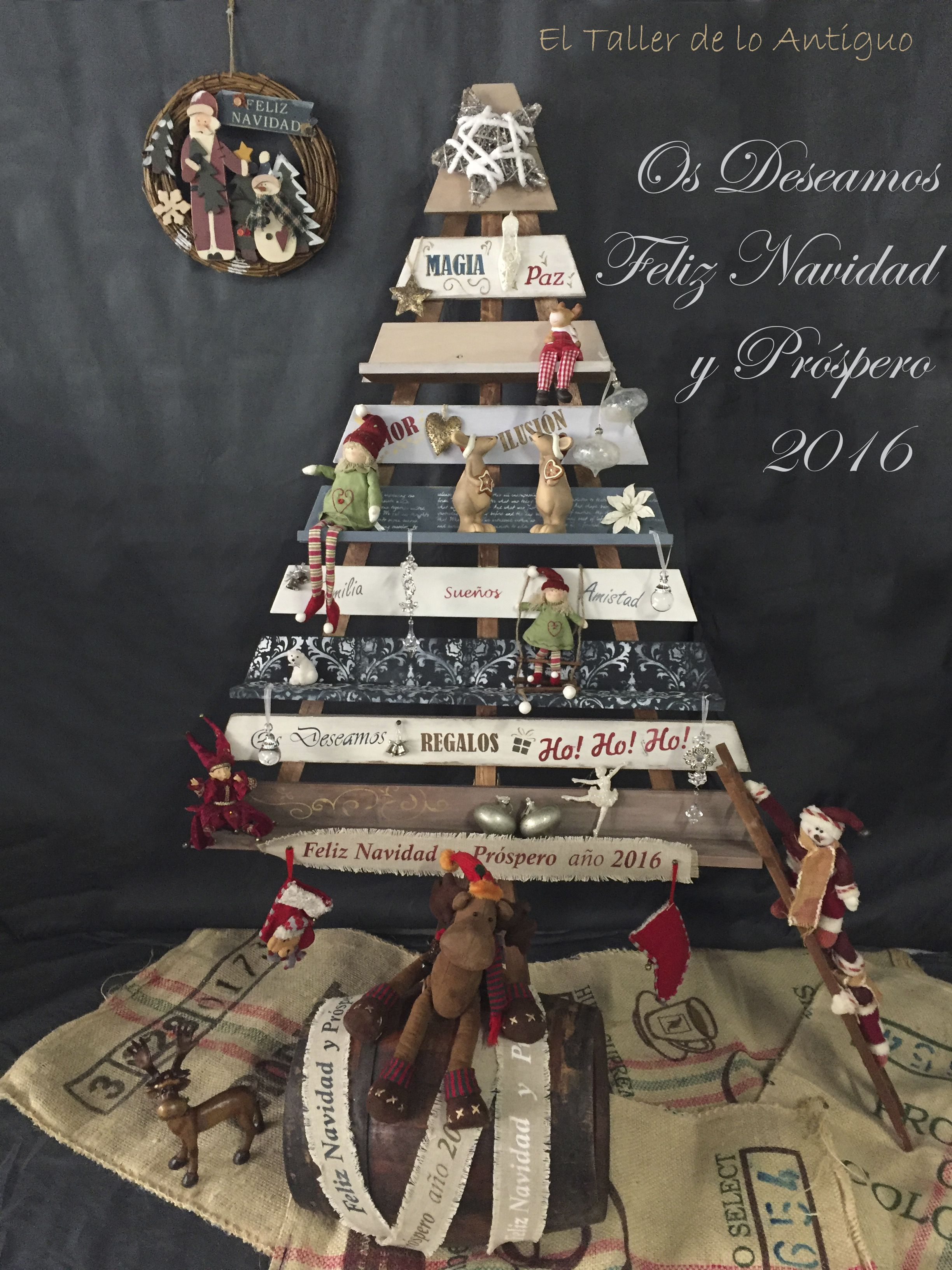 Arbol de navidad de madera el taller de lo antiguo - El taller de lo antiguo ...
