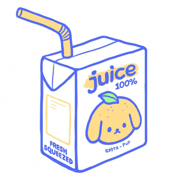 Blushsprout On Instagram Pumped To Announce That My First Ever T Shirt Design Juice Box Will Be Debuting At In 2020 Cute Stickers Aesthetic Stickers Cute Drawings